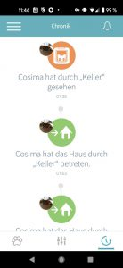 Sure Petcare App - Chronik